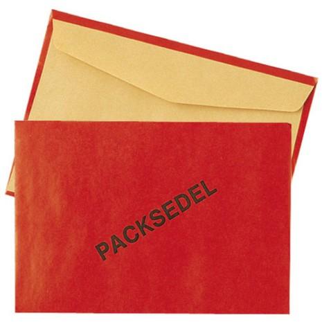 C6 Packsedelskuvert Röda