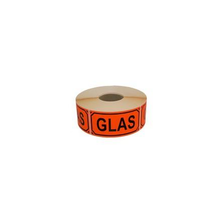 Glas Etikett