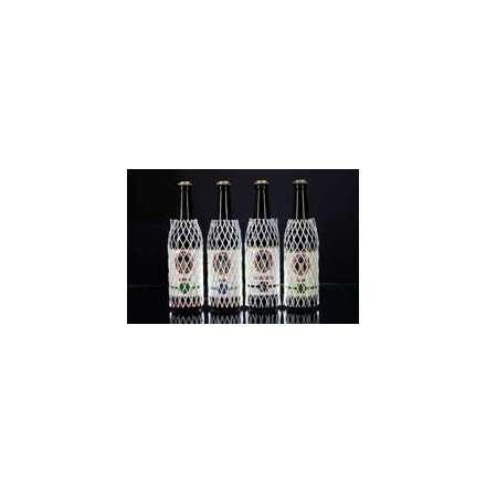 Flaskskyddsnät vit med skum  Bredd mellan 60-135 mm, 1250st