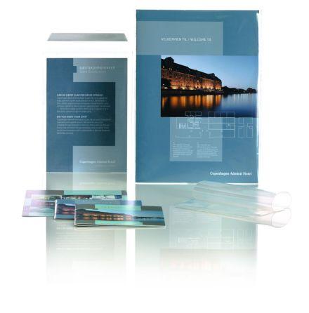 Transparent Plastkuvert B4 245x350mm 1000st TKR