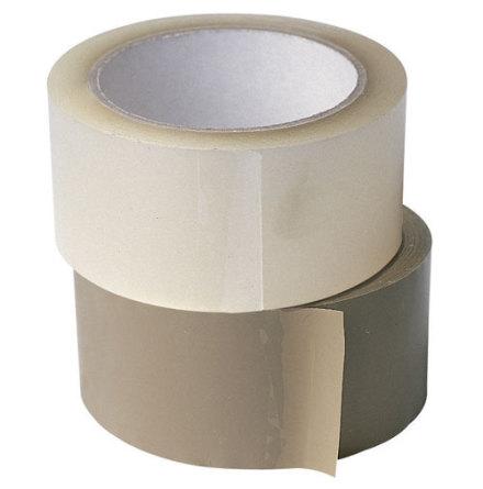 Packtejp PVC 38mm, 66m, Brun, 48st/kartong