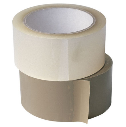 Packtejp PVC 50mm, 66m, Brun, 36st/kartong