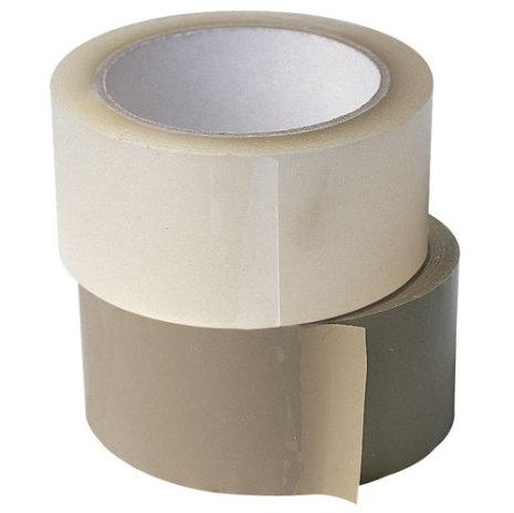Packtejp PVC 50mm, 66m, Transparent, 36st/kartong
