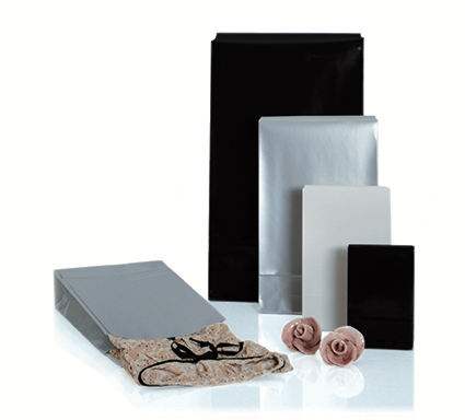 Presentpåse 100 x 42 x 157mm  TKR Silver